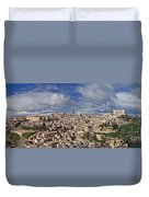 Toledo Old Town Panorama Duvet Cover