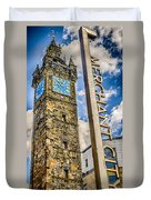 Tollbooth Clock Tower Glasgow Duvet Cover