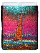 Tom Ray's Sailboat 3 Duvet Cover