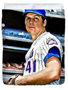 Tom Seaver Duvet Cover