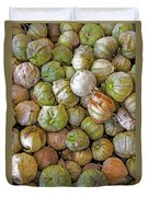 Tomatillos At The Local Market Duvet Cover