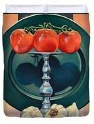 Tomato And Garlic Duvet Cover