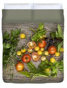 Tomatoes And Herbs Duvet Cover by Elena Elisseeva