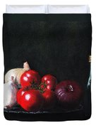 Tomatoes And Onions Duvet Cover by Anastasiya Malakhova