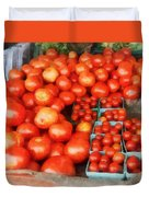 Tomatoes For Sale Duvet Cover