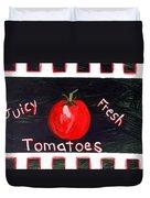 Tomatoes Market Sign Duvet Cover
