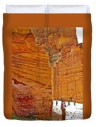 Tomb 67 In Petra-jordan Duvet Cover