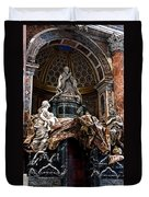 Tomb Of Pope Alexander Vii By Bernini Duvet Cover