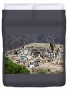 Tombs And Crosses Maimara Argentina Duvet Cover