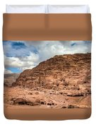 Tombs Of Petra Duvet Cover