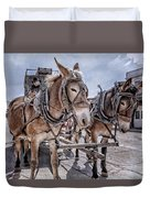 Tombstone Mules Duvet Cover