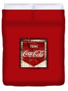 Tome Coca Cola Classic Vintage Rusty Sign Duvet Cover