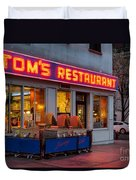 Tom's Restaurant Duvet Cover
