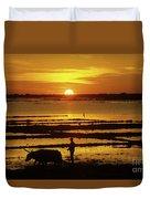 Tonle Sap Sunrise 01 Duvet Cover