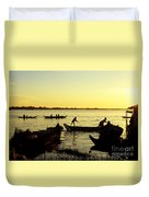 Tonle Sap Sunrise 05 Duvet Cover
