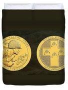 Tonto Apache Tribe Code Talkers Bronze Medal Art Duvet Cover