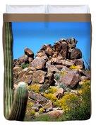 Tonto Saguaro Rocks 10189 Duvet Cover