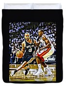Tony Parker Painting Duvet Cover