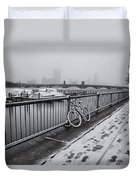 Too Cold To Cycle Duvet Cover