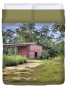 Tool Shed Out Back Duvet Cover