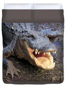 Toothy Grin Duvet Cover by Adam Jewell