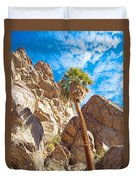 Top Of A Palm Near Top Of Andreas Canyon-ca Duvet Cover