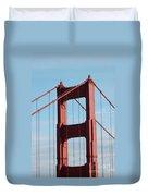 Top Of Golden Gate Bridge Duvet Cover