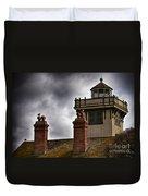 Top Of Point Fermin Lighthouse Duvet Cover