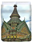 Top Of Temple In Wat Po In Bangkok-thailand Duvet Cover