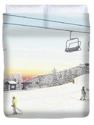 Top Of The Mountain At Seven Springs Duvet Cover