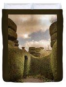 Topiary Maze In A Formal Garden Duvet Cover