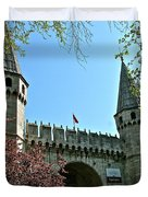 Topkapi Palace Wall And Gate In Istanbul-turkey Duvet Cover