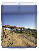 Topock Bridge Freight Duvet Cover
