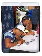 Toronto Argonauts Players Signing Autographs Duvet Cover by Valentino Visentini
