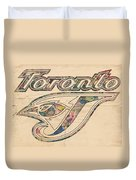 Toronto Blue Jays Logo Art Duvet Cover