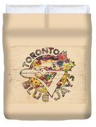 Toronto Blue Jays Vintage Art Duvet Cover
