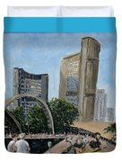 Toronto City Hall Duvet Cover