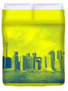 Toronto Downtown View Duvet Cover