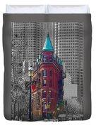 Toronto Flat Iron Building Version 2 Duvet Cover