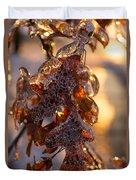 Toronto Ice Storm 2013 - Oak Leaves Jewelry Duvet Cover
