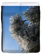 Toronto Ice Storm 2013 - Pine Needle Flowers In The Sky Duvet Cover