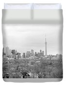 Toronto In Black And White Duvet Cover
