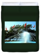 Toronto Island Fountain Duvet Cover