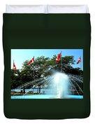 Toronto Island Fountain Duvet Cover
