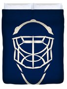 Toronto Maple Leafs Goalie Mask Duvet Cover