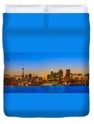 Toronto Skyline Panorama Duvet Cover