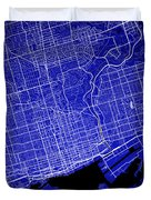 Toronto Street Map - Toronto Canada Road Map Art On Colored Back Duvet Cover