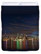 Toronto's Dazzling Skyline  Duvet Cover