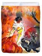 Bullfighting The Reds Duvet Cover