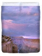 Toroweap Overlook Grand Canyon Nparizona Duvet Cover by Tim Fitzharris